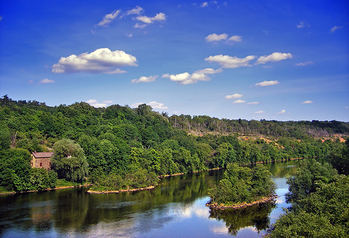 Lehigh River near Slatington, Lehigh County - Northampton County line