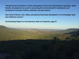 The Beauty of Hawk Mountain paired with a quote from the Brookings Report remind us of the importance of open space preservation