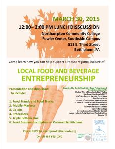 Food Policy Meeting March 30 2015