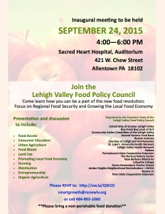 Flyer Food Policy Council September 2015 6Aug15